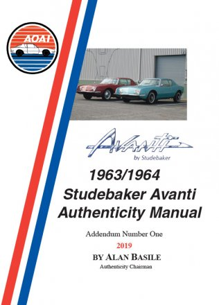 1963/1964 Avanti Authenticity Manual Addendum