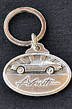 Avanti Pewter and Silver Key Ring